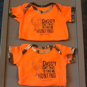 Matching Twin Boy 0-3 month onesies NWOT